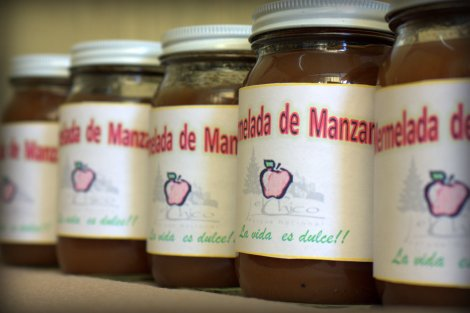 Apple jam: income-generating product made from renewable resources, and creates a product can be consumed in the household or can be sold to tourists as a regional delicacy.